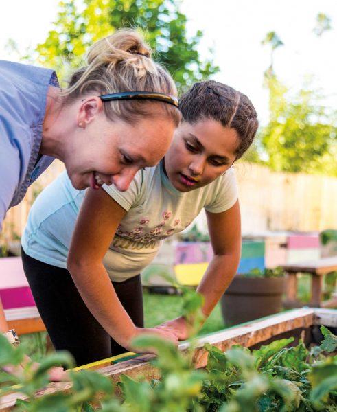 USD MEPN student works on community garden