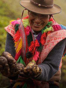 Andean potato farmer