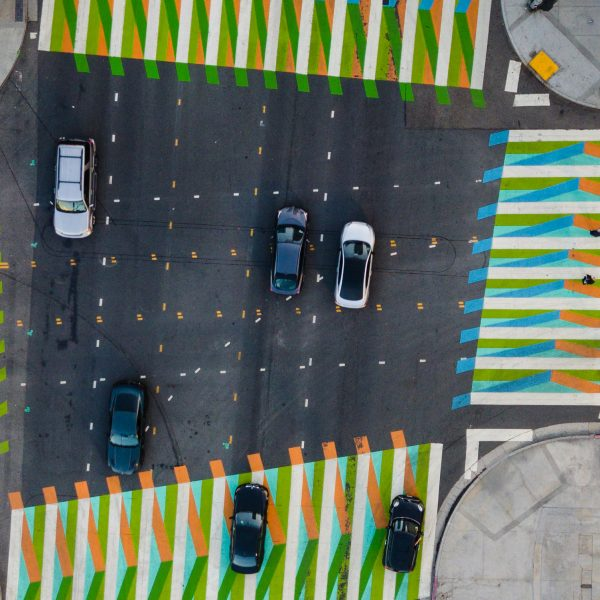Artist Carlos Cruz-Diez sees urban streets as a medium for art. The ability to think outside the lines is intrinsic to the Kroc School's new Master of Arts in Social Innovation.