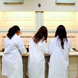 USD students in lab coats