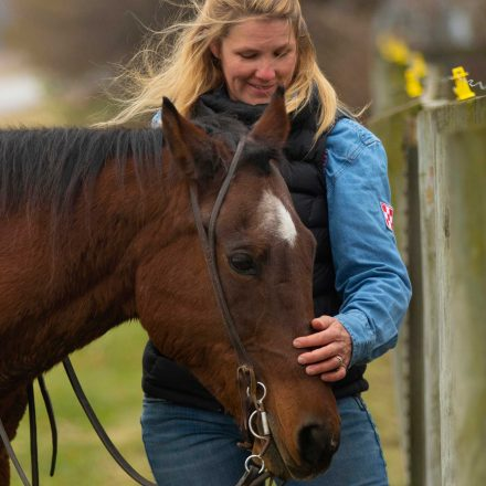 USD alumna Meggan Hill-McQueeny with horse