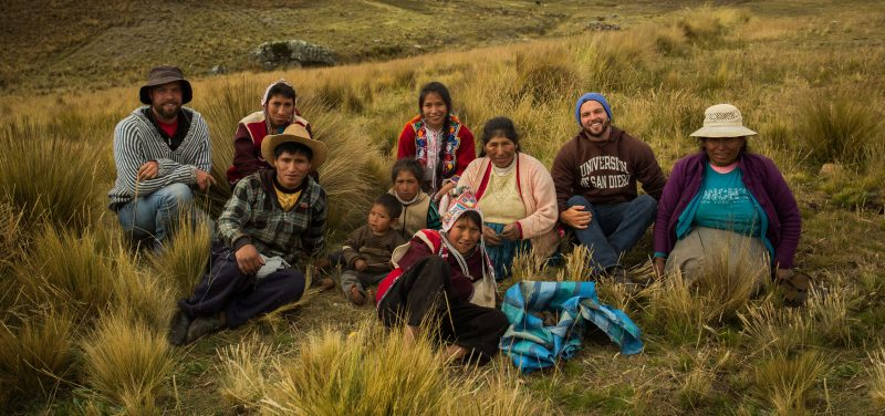 Peruvian farmers and USD alumnus Eric Ebner