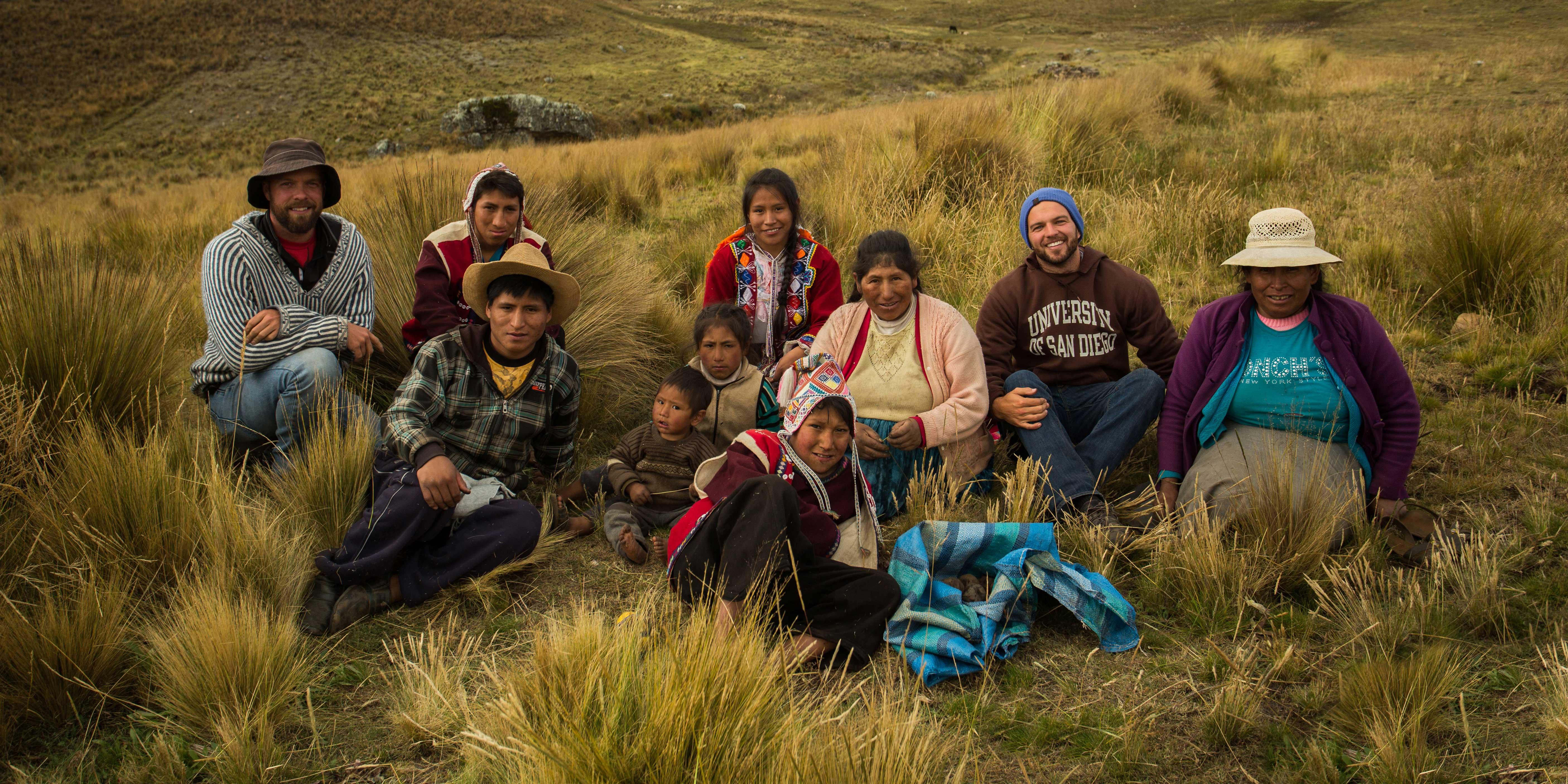 Peruvian farmers and USD alumnus Eric Ebner