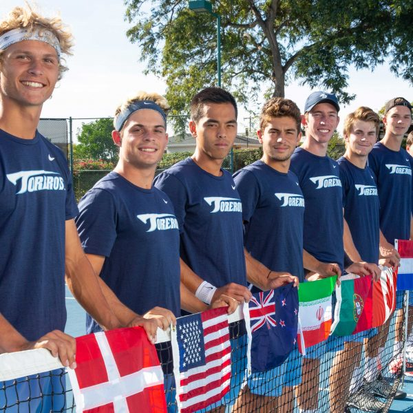Members of the USD Men's Tennis Team.