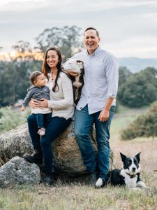 Byron Palmer, wife Alyssa and baby Emma are living the dream.