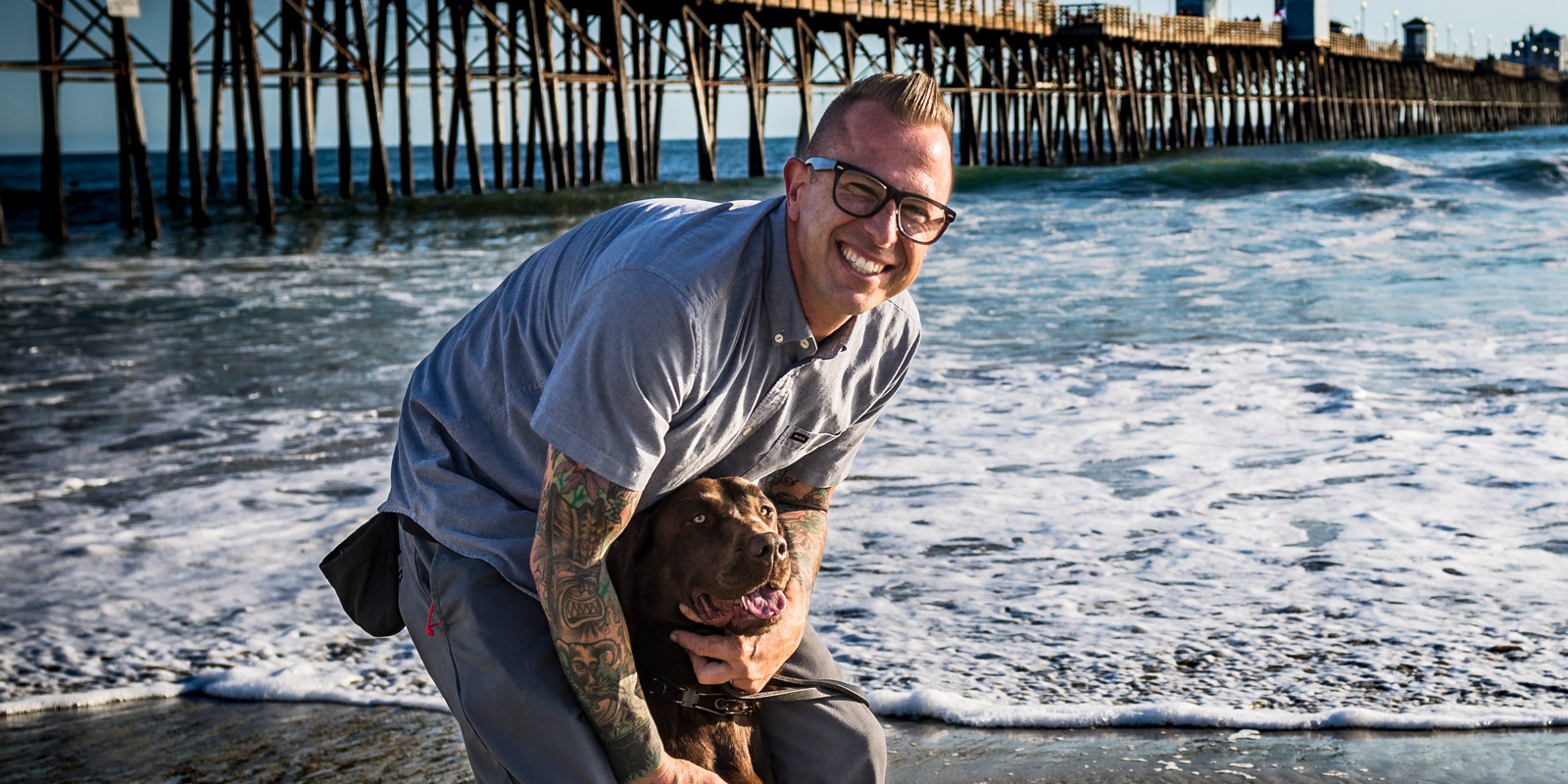 Vets like Vic Martin, USN, Retired — shown here with his service dog, Mia — see the benefits of nonprofit Shelter to Soldier as a lifesaver.