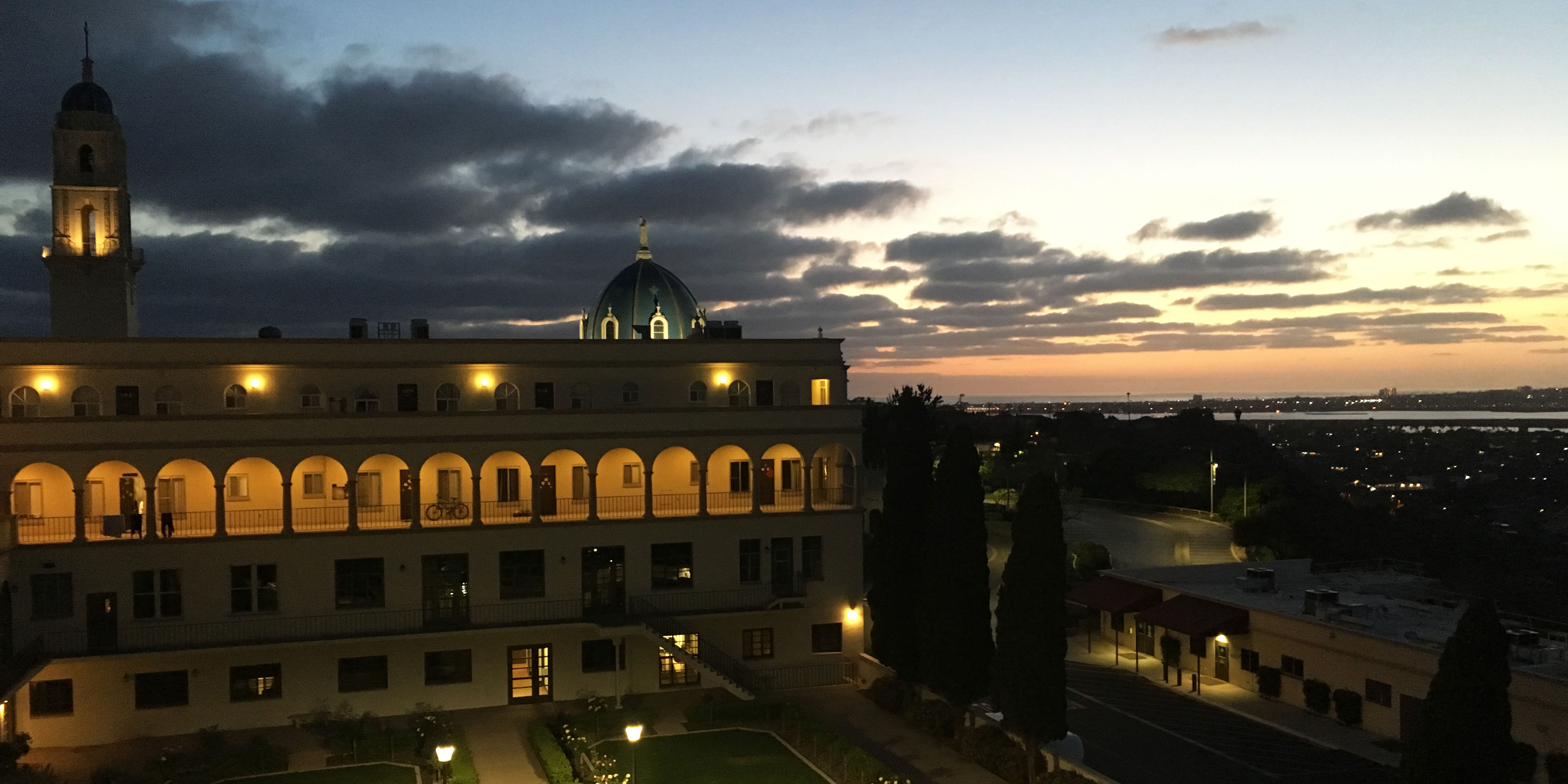 view of USD campus from Maher Hall