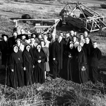 Vintage photo of nuns on USD campus