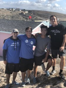 USD baseball students on site at house-build in Mexico