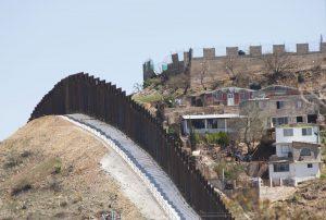 Border fence in Nogales, Mexico