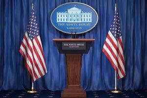 Podium at White House