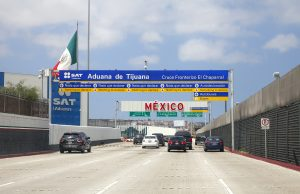 Highway into Mexico from San Diego