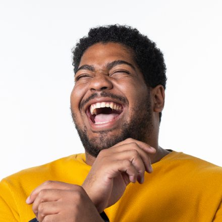 Recent USD graduate Shane Davis '19, laughing.