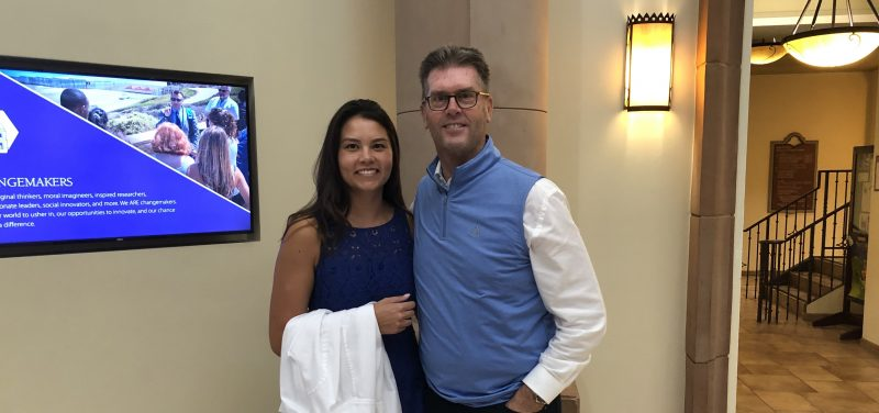 USD nursing student Madison Molotky next to her father, Peter.