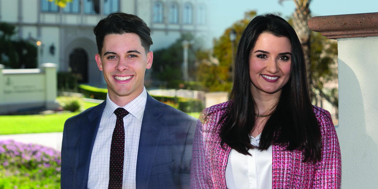 USD students Simon Finnie and Elizabeth Longacre