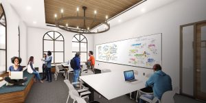 Artist rendition of USD's new Learning Commons space