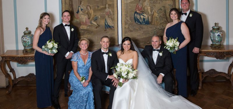 Members of the Levine family gather at the University of San Diego campus for a family wedding