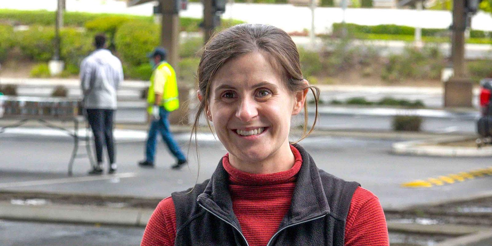 USD alumna Deanna Wolf '12 (BA) of Catholic Relief Services