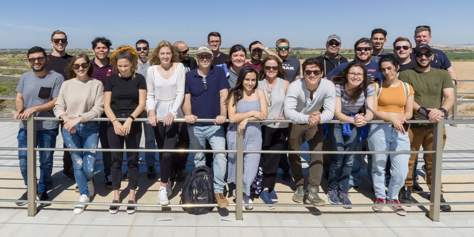 USD alumnus Curtis Chambers alongside students and faculty on an Israel study abroad trip