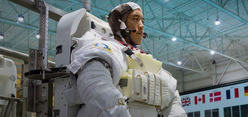 USD alumnus and astronaut Jonny Kim in a space suit in training.