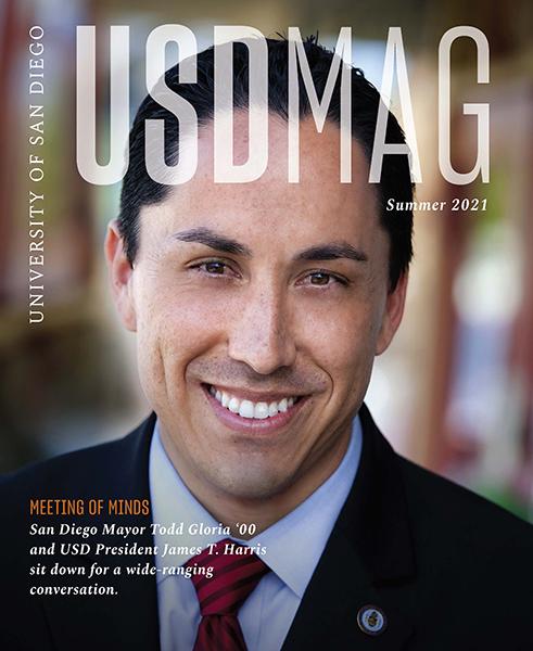 Cover of Summer 2021 USD Magazine features USD alumnus and San Diego Mayor Todd Gloria '00 (BA)