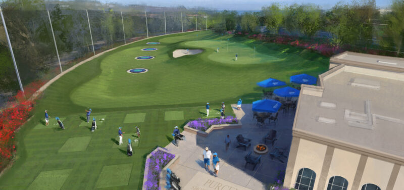 Rendering of USD's new Purcell Familyt Shoert-Game Practice Facility