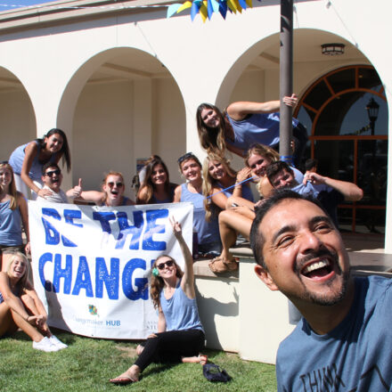 Changemakers at USD take a selfie and smile