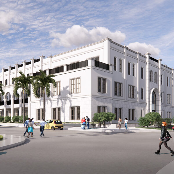 Rendering of USD's new Knauss Center for Business Education