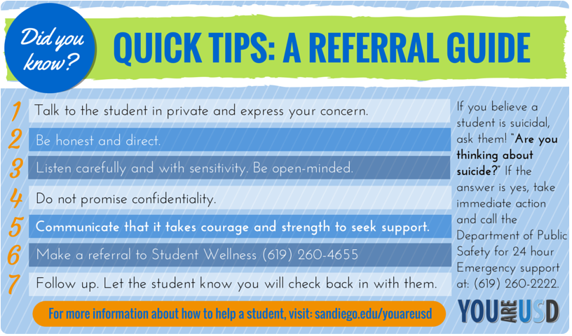 Quick tips: A suicide prevention referral guide