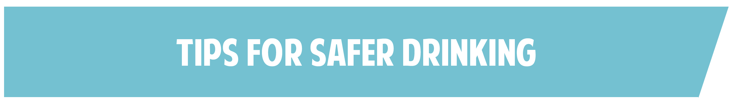 Tips for Safer Drinking at USD