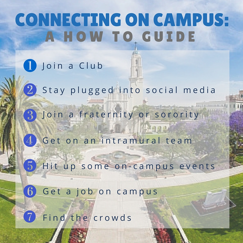 A how to guide for connecting at the University of San Diego
