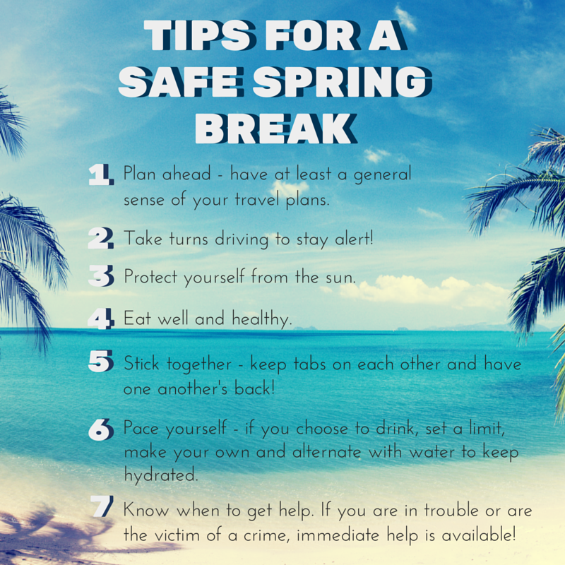 Learn tips and tools for having a happy and healthy safe spring break at USD