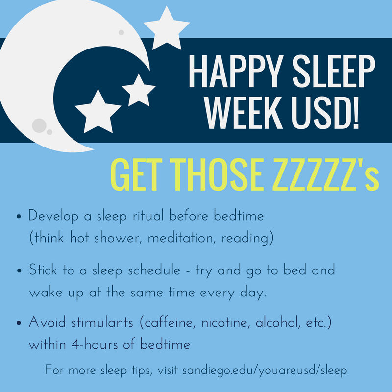 Sleep Week Tips at USD